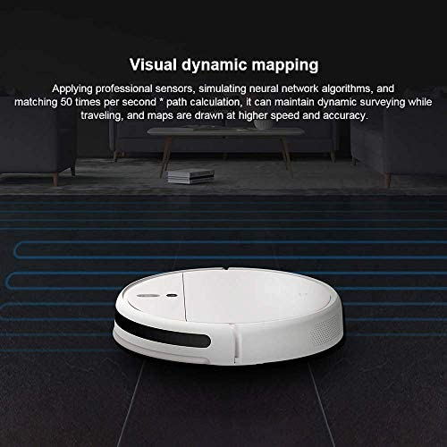 Xiaomi Mijia Sweeping Moping Robot Mi Aspirateur 1C pour la maison Auto Poussière Stériliser 2500PA Cyclone Aspiration Smart Planned WIFI