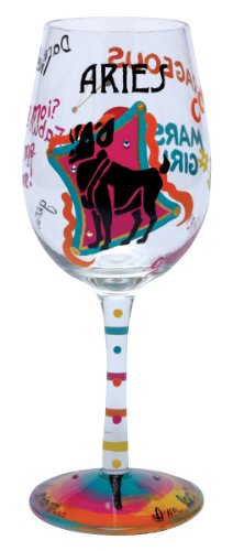 Lolita Love My Sign, Aries Wine Glass