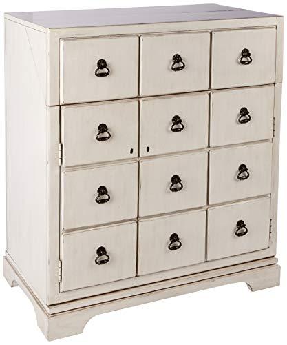 Howard Miller 695180 Wine Cabinet/Bar, Antiqu White ()