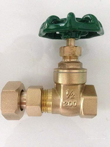 Mercury_Group Electric Valve, 1/2' 3/4' Brass Gate Valve Water Meter - (DN15)