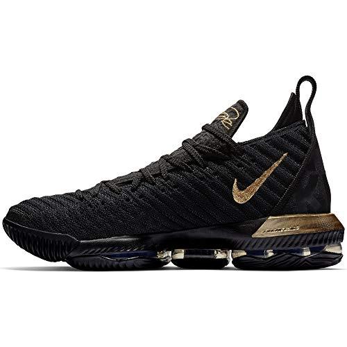 Nike Mens Lebron 16 Basketball Shoes (Black/Metallic Gold, 12 D(M) US)