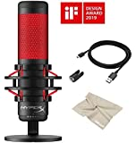 2020 Latest HyperX QuadCast - USB QuadCast Gaming Condenser Microphone, PC, PS4, Mac,Podcasts, Twitch, YouTube with…