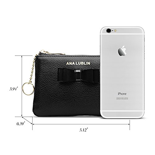 ANA LUBLIN leather Wallet Small Coin Purse Women RFID Blocking Mini Money Pocket by ANA LUBLIN (Image #4)