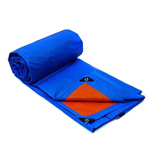 Plane Persenning Wasserdichte UV-Besteändige Plane Multi-Purpose Sheet Tarps für Camping und Outdoor - Dicke 0,32 mm, Multi-Größe-Optionen (blau) Abdeckplanen (größe   4MX3M)