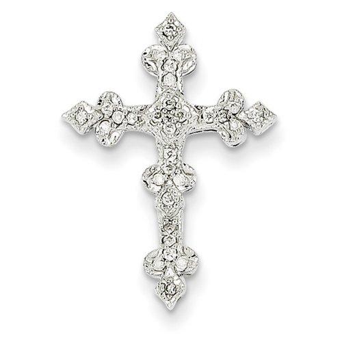 Icecarats Créatrice De Bijoux 14K Diamant Or Blanc En Filigrane Pendentif Croix