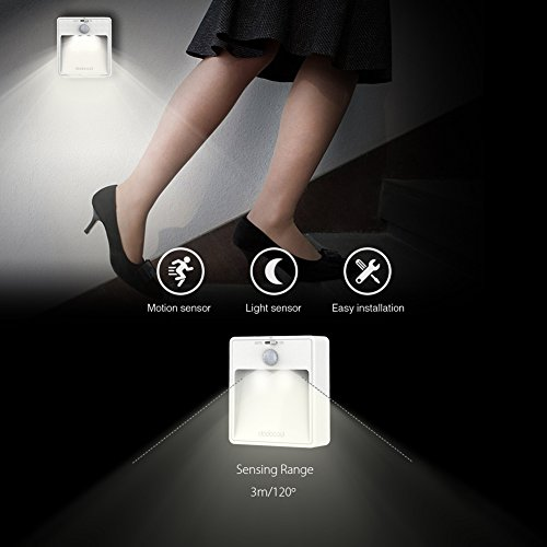 motion sensor bedroom light dodocool led light motion sensor light battery 16488
