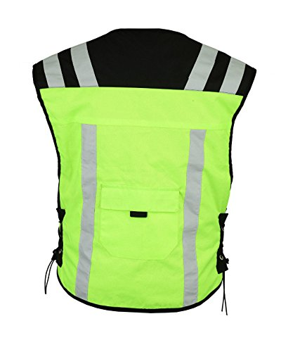 3XL Gearx Hi Visibility Vest 4 Motorbike or Industrial Safety Wears Green