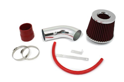 S/&T Racing Red Short Ram Air Intake Kit Filter 01-05 for Hyundai Accent 1.6 L4