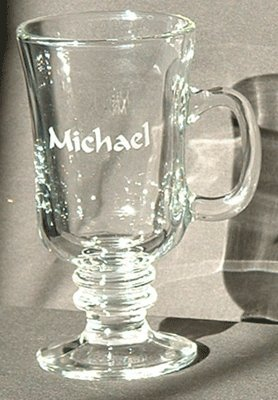 amazon com personalized glass irish coffee cups 8 oz irish