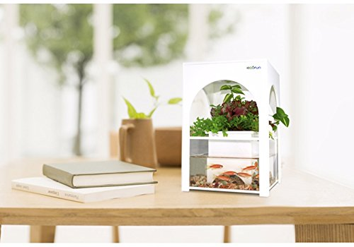 White Castle Aquarium Kit Aquaponics System Indoor Farming Betta Tropical Fish Tank Home Decor