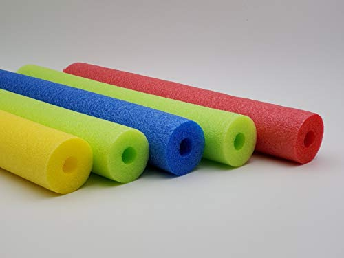 Fix Find 52 inch Colorful Foam Pool Swim Noodle 5 Pack in Lime, Red, Yellow & Blue