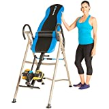 EXERPEUTIC Inversion Table with SURELOCK Safety Ratchet System, Lumbar Support and AIRSOFT No Pinch Ankle Holders