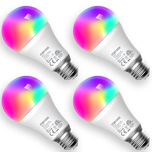 Meross Smart WiFi Dimbare Meerkleurige LED-lamp Afstandsbediening Equivalent 60W E27 2700K-6500K Compatibel met Alexa…