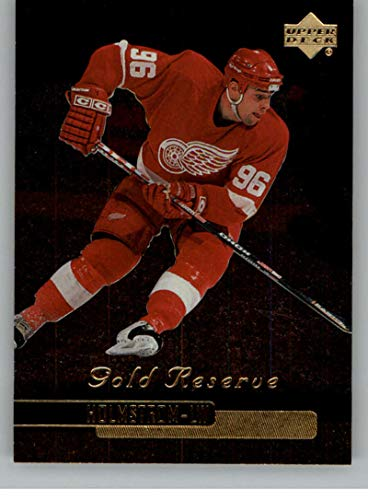 - 1999-00 Upper Deck Gold Reserve Official NHL Hockey Card #222 Tomas Holmstrom Detroit Red Wings