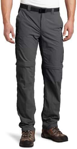 Columbia Men's Silver Ridge Convertible Pant, Grill, 42 x 32
