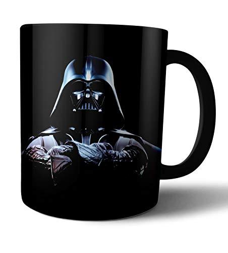 Caneca de porcelana branca Star Wars Darth Vader Live Comics - Preto