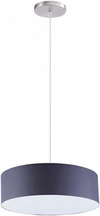 Como Techo o Lámpara colgante utilizable Mampara - ø 40cm Pantalla de tela - en marrón - inclusive linterna LED: Amazon.es: Iluminación