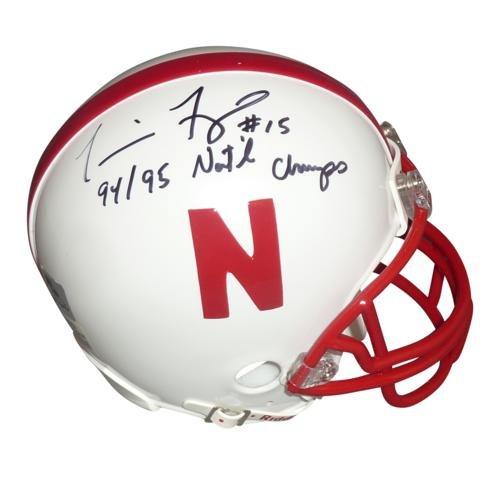 Tommie Frazier Autographed Nebraska Huskers Mini Helmet w/