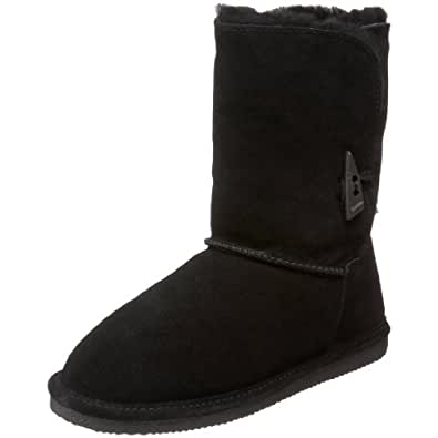 BEARPAW Women's Victorian Boot,Black,6 M US