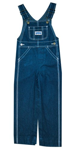 Walls Boys' Big Youth Bib Overall, Rigid Blue, 8 (Cotton Overalls Smith)