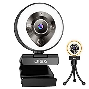 Flashandfocus.com 41QKFiKaZkL._SS300_ JIGA 1080P Webcam with Microphone, HD Webcam with Light, Streaming Camera for PC,USB Camera, Adjustable Brightness,Fast…