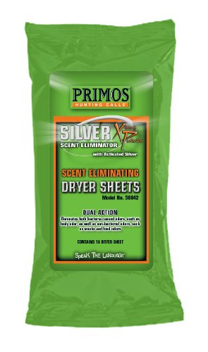 Primos Scent Eliminating Dryer Sheets (16-Count Pack)