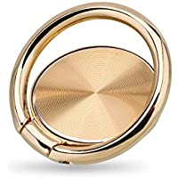 Finger Ring Stand,Snnisttek 360° Rotary Cell Phone Finger Holder Loop Grip Mount Universal Smartphone Kickstand for iPhone X,iPhone 8/7, iPhone 6/6s Plus,iPad, Samsung Galaxy S8/S9,Huawei (Gold)