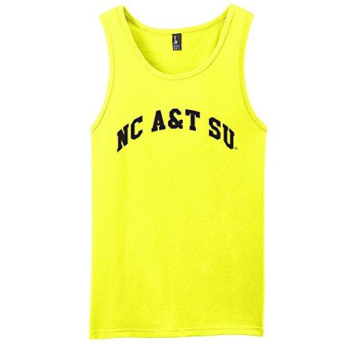 Campus Merchandise NCAA North Carolina A&T Aggies Arch Neon Tank, Neon Yellow, ()