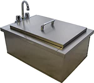 outdoor kitchen sink plumbing drop in bar sink with faucet amp condiment 3869