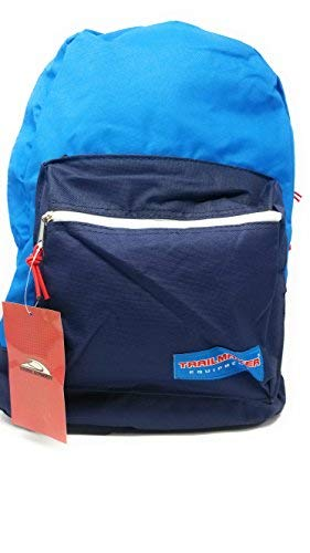 "17"" Trailmaker Backpack Book Bag Different Colors (Blue-Blue)"