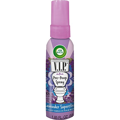 Air Wick V.I.P. Pre-Poop Spray, Lavender Superstar, 1.85oz (Liquid Vip Cosmetics)