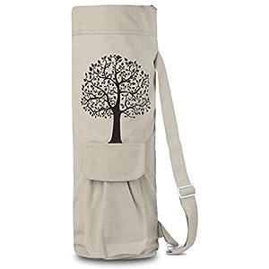 BalanceFrom BFGYFM6IV Goyoga Full Zip Exercise Yoga Mat Bag with Multi-Functional Storage Pockets