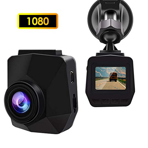 Dash Cam, GERI Full HD 1080P Mini Dash Camera with 1.5″ 140 Degree Wide Angle Lens Digital Car Dashboard Camera Driving Video Recorder WDR, Loop Recording, Motion Detection and G-Sensor