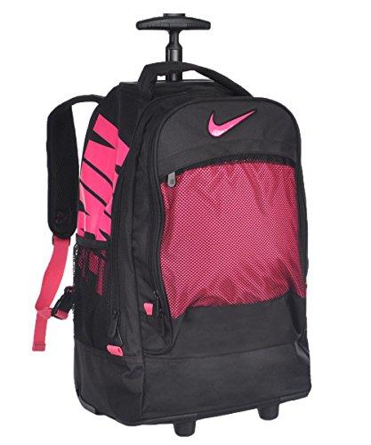 Nike Extra-Large Wheeled Backpack - black/pink, one size