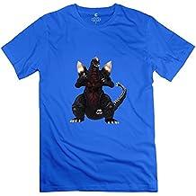 Spacegodzilla New Round Neck T-shirt For Man's RoyalBlue XXL Latest Tee Shirt