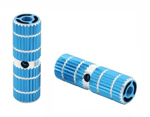 Alloy Pegs 691 24/26t W=1'' l=3'' Blue. Pegs for bike, bicycles, bmx, lowrider, mountain bike, beach cruiser