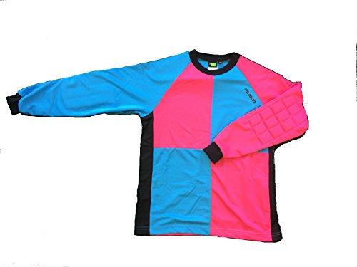 Reusch Soccer Adult Harlequin Goalkeeper Jersey, Electric Blue, Small (Jersey Long Sleeve Reusch)