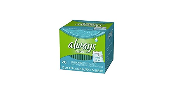 Amazon.com: ALWAYS CLEANSING CLOTH SINGLES SCENTED CLEAN 20CT by Always: Health & Personal Care