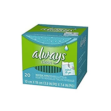 ALWAYS CLEANSING CLOTH SINGLES SCENTED CLEAN 20CT by Always