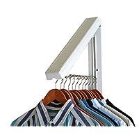 InstaHanger Closet Organizer, The Original Folding Drying Rack, Wall Mount - 2 Pack