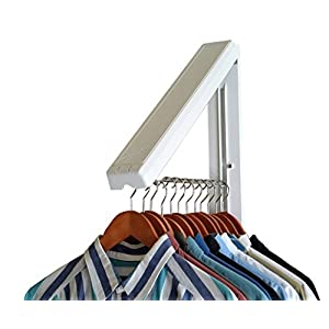 The Original InstaHANGER Model AH12/M White – Folding Collapsible Wall Mounted Clothes Storage/Drying Rack