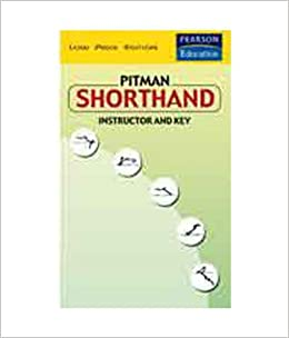Buy Pitman Shorthand Instructor And Key Book Online At Low Prices In