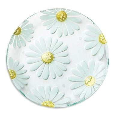 DEMDACO Silvestri Glass Fusion Daisy Platter, 13-Inch