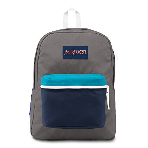 JanSport Exposed Backpack - Shady Grey/White