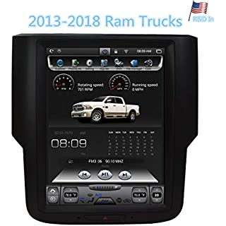 Sale Dodge 2013-2019 Ram 1500 2500 3500 Navigation System 10.4 Inch Touch Screen Radio Car Stereo in Dash GPS Android Tesla Style Vertical HD Multimedia Player 2GB RAM 32GB ROM Bluetooth WiFi Head Unit