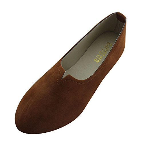 Planos Mujer Sintética Moda Piel Elegancia Marrón Básicas de Zapatos Bailarinas y dp57wqdZ