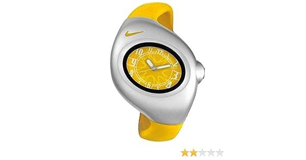 NIKE WR0033-707 - Reloj Nike TRIAX JUNIOR Analógico caucho - Mujer/Cadete - Color Amarillo: Amazon.es: Relojes