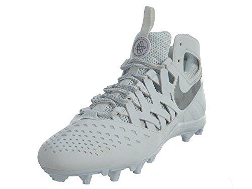 Nike Mens Huarache V Lax Lacrosse Cleats (13 M US, Blanco/Plateado met?lico, 47.5 M EU/12.5 M UK