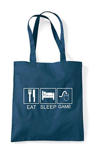 Activity Tiles Funny Sleep Shopper Hobby Mouse Game Tote Petrol Eat Bag Pc XI07BAx