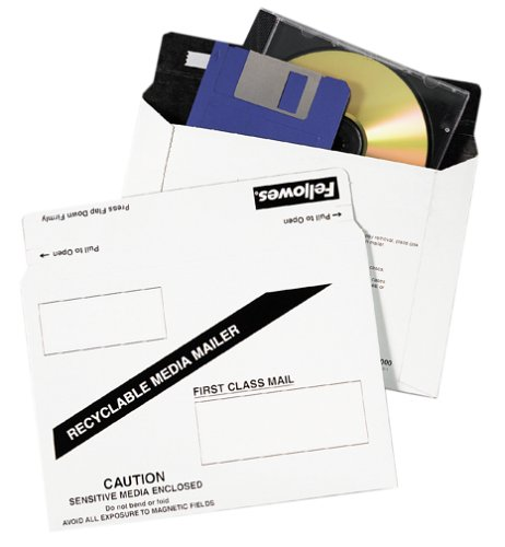 Fellowes DM100010 Paper Data Mailer White for CD, Zip Catridge, or Floppy Disk (10-Pack) (Discontinued by Manufacturer) by Fellowes